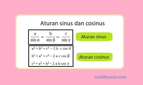 Aturan sinus, Aturan cosinus