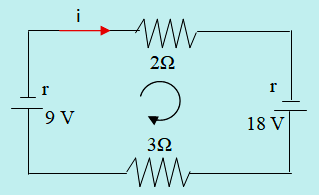 Arah arus dan arah loop rangkaian nomor 4