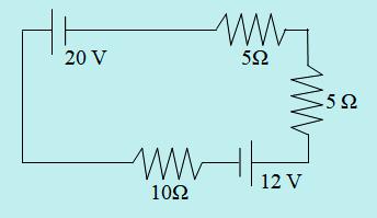 Contoh soal hukum 2 Kirchhoff 1 loop