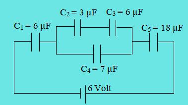 Contoh soal muatan kapasitor rangkaian gabungan
