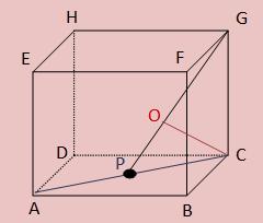 Jarak titik C ke garis GP kubus