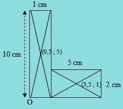 Letak titik berat bidang huruf L