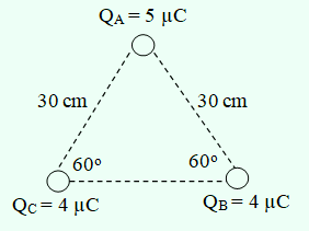 Contoh soal gaya listrik 3 muatan segitiga