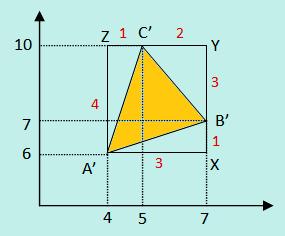 Hasil translasi segitiga ABC