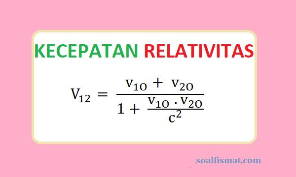 Kecepatan relativitas