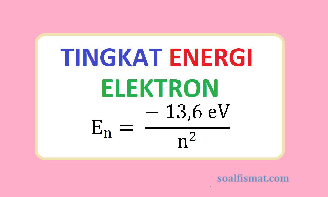 Tingkat energi elektron