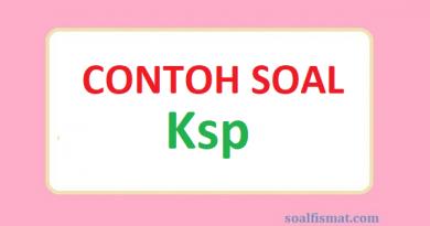 Contoh soal Ksp