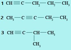 Contoh isomer senyawa alkuna
