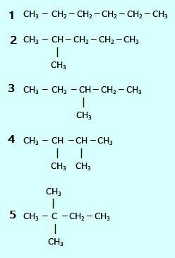 Isomer senyawa alkana C6H14
