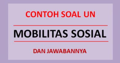 Contoh soal UN mobilitas sosial